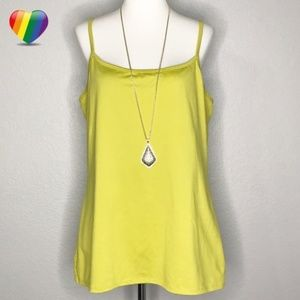New York & Company Yellow Cami Tank Top A120309